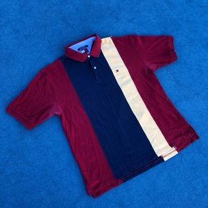 Vintage Tommy Hilfiger Vertical Striped Polo